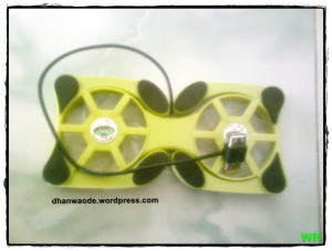 kipas angin laptop hijau